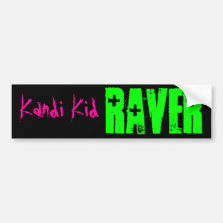 RAVER, Kandi Kid Bumper Sticker