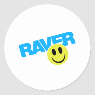 Raver - Raver Music DJ Clubbing Rave Classic Round Sticker