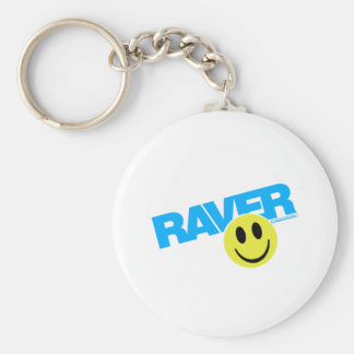 Raver Smilie - DJ Clubbing Rave Party Music Keychain