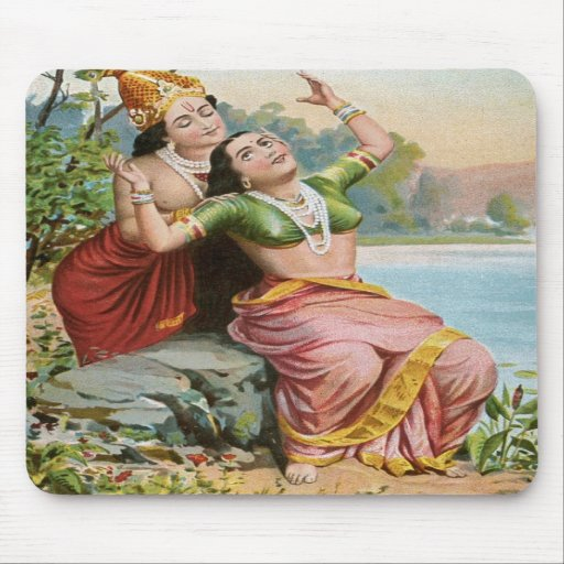 Ravi Varma's Radha-Vilas Mouse Pad