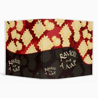 Ravioli and a Nap Binder