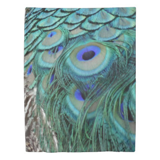 Ravishing Peafowl Feathers Beautiful Eyes Duvet Cover