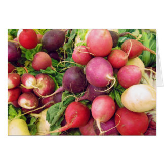 Ravishing Radishes Note Card