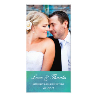 Ravishing / Watercolor Wedding Photo Card