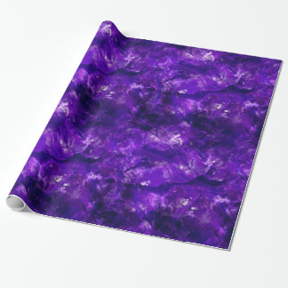 Raw Amethyst Wrapping Paper