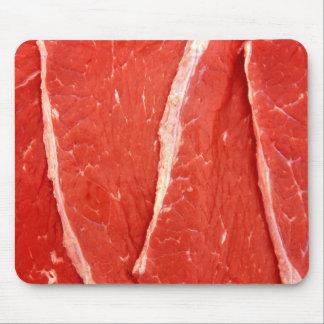 Raw Beef Steak Meat Mousepad / Mousemat