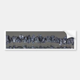 Raw Carbonados black diamonds Bumper Sticker