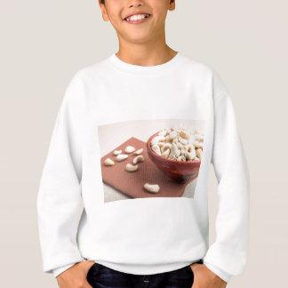 Raw cashew nuts for vegetarian food closeup sweatshirt
