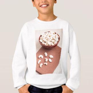 Raw cashew nuts for vegetarian food sweatshirt