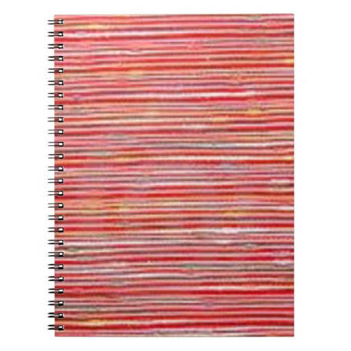 RAW Coarse FABRIC Thread Line Grains PRINT on GIFT Note Book