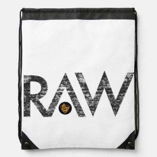 RAW drawstring bag