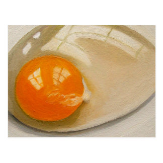 RAW EGG REALISM ARTWORK POSTCARD