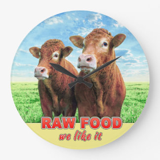 RAW FOOD we like it Large Clock
