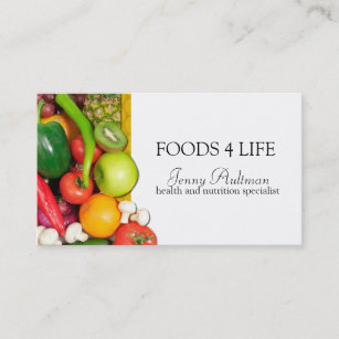 food and nutrition business cards profile cards zazzle ca