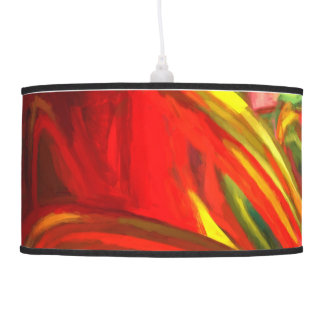 Raw Fury Painted Abstract Pendant Lamp