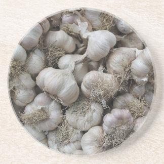 Raw Garlic Seasoning Healthy Food Wallpaper Coasters