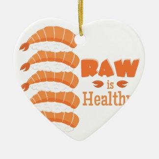 Raw Healthy Ceramic Heart Ornament