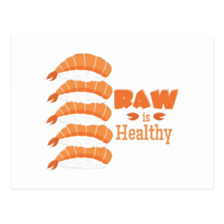 Raw Healthy Postcard