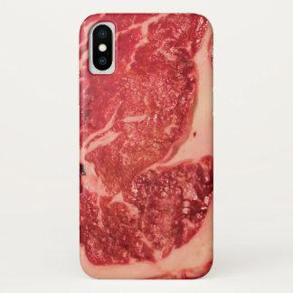 Raw Meat Ribeye Steak Texture iPhone X Case