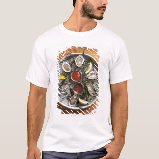 Raw oysters arranged T-Shirt
