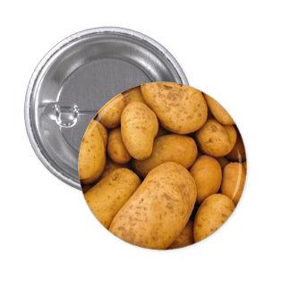 Raw Potatoes 1 Inch Round Button