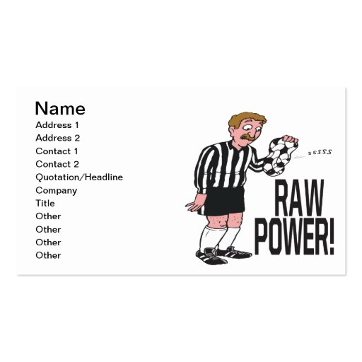 Raw Power Business Card Templates