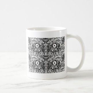 Raw Rough Mean Angry Evil Eyes Sharp Detailed Hand Coffee Mug