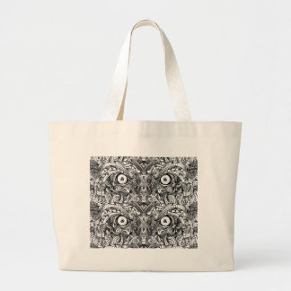 Raw Rough Mean Angry Evil Eyes Sharp Detailed Hand Large Tote Bag