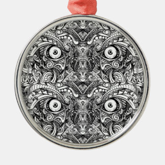 Raw Rough Mean Angry Evil Eyes Sharp Detailed Hand Metal Ornament