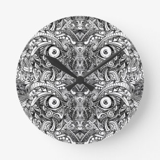Raw Rough Mean Angry Evil Eyes Sharp Detailed Hand Round Clock