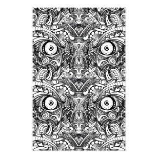 Raw Rough Mean Angry Evil Eyes Sharp Detailed Hand Stationery Design