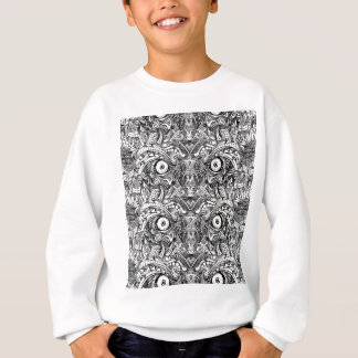 Raw Rough Mean Angry Evil Eyes Sharp Detailed Hand Sweatshirt