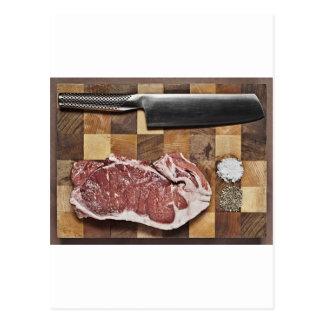 Raw Steak Postcard