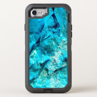 Raw Turquoise Stone Look OtterBox Defender iPhone 8/7 Case