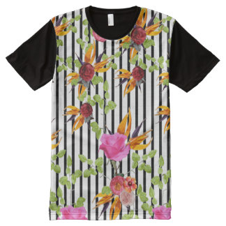 Rawdah Flowery Garden by Artist Zala02Creations All-Over-Print T-Shirt