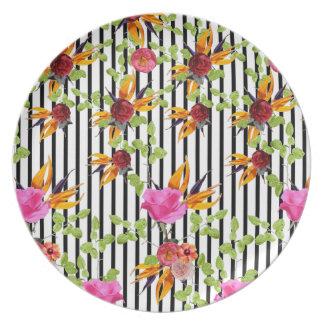 Rawdah Flowery Garden by Artist Zala02Creations Plate