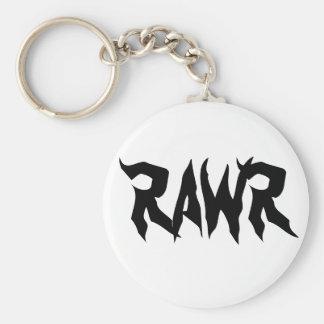 RAWr Basic Round Button Keychain