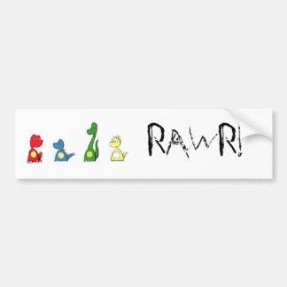 rawr bumper sticker