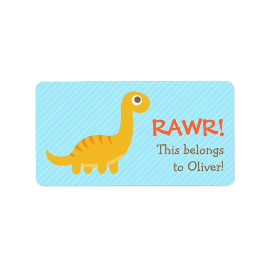 Rawr, Cute Yellow Brachiosaurus dinosaur For Kids
