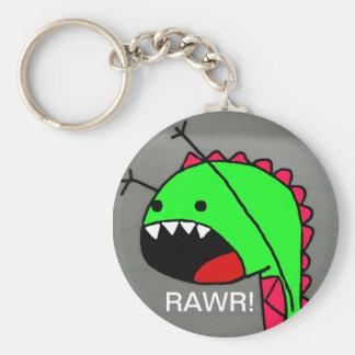 Rawr Dino Basic Round Button Keychain