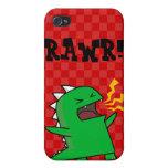RAWR Dino - customizable! (small) iPhone 4 Case