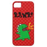 RAWR Dino - customizable! (small) iPhone 5 Case