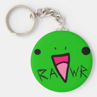 rawr dinosaur basic round button keychain