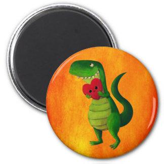 RAWR Dinosaur Love 2 Inch Round Magnet