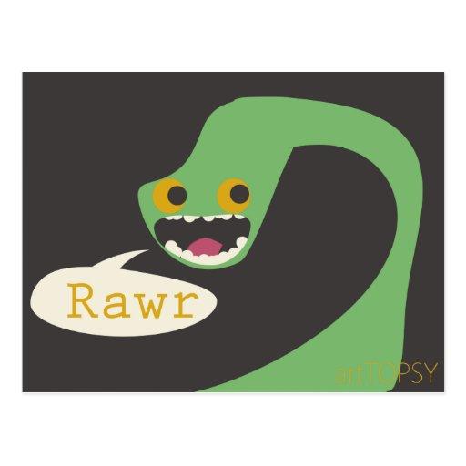 Rawr Dinosaur Postcard
