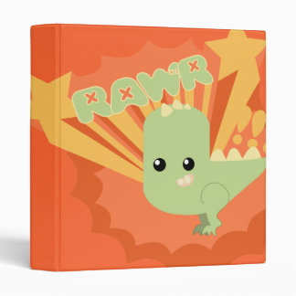 RAWR Dinosaur Vinyl Binder