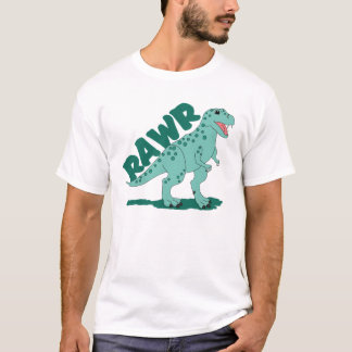 RAWR Green Spotted T-Rex Dinosaur T-Shirt