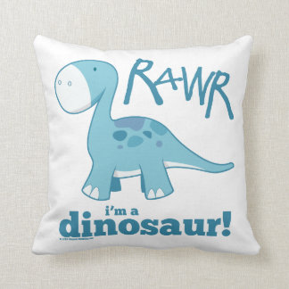 RAWR I'm a Dinosaur Throw Pillow