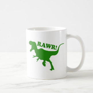 RAWR is how Dinosaurs say I love you Basic White Mug