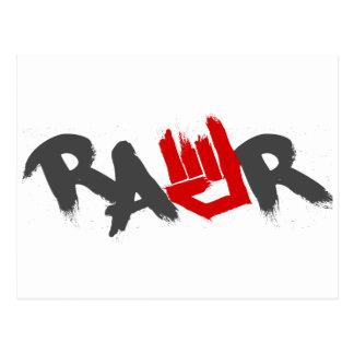 Rawr Logo - Emo, goth, alternative, rock, grunge Postcard